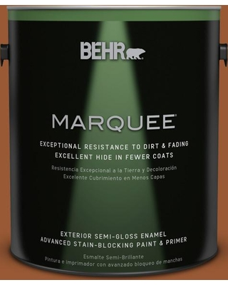 BEHR MARQUEE 1 gal. #240D-7 Chestnut Stallion Semi-Gloss Enamel Exterior Paint and Primer in One