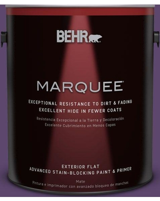 BEHR MARQUEE 1 gal. #S-G-660 Wild Grapes Flat Exterior Paint and Primer in One