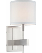"Orson 13 1/2"" High Satin Nickel Wall Sconce"
