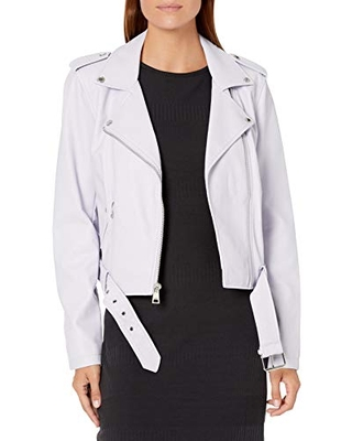 Levi's Women's Faux Leather Belted Motorcycle Jacket (Standard and Plus Sizes), Lilac, 2X