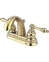 Restoration Classic Bathroom Faucet Polished Brass - Kingston Brass