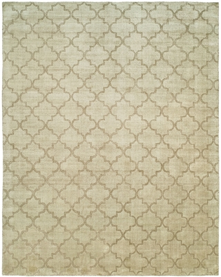 Avalon Chino Hand-made Beige Wool and Viscose Area Rug (12' x 15') - 12' x 15' (Beige - 12' x 15')