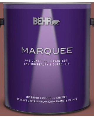 BEHR MARQUEE 1 gal. #190F-6 Bold Brick Eggshell Enamel Interior Paint and Primer in One