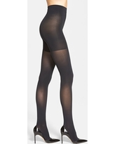 Women's Spanx 'Luxe' Leg Shaping Tights, Size B - Black
