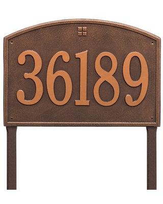 Whitehall Products Cape Charles Personalized Address Plaque in Antique Copper