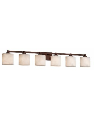 Justice Design Group Clouds 51 Inch 6 Light Bath Vanity Light - CLD-8436-30-DBRZ