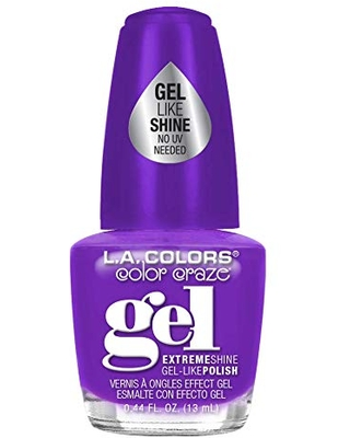 L.A. Colors Gel Shine Nail Polish, Risque, 0.44 Fluid Ounce (Pack of 3)