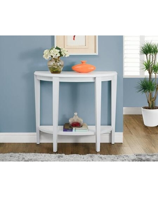 """I 2451 36""""L Hall Console Accent Table in White"""