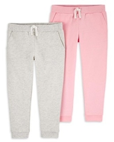Child of Mine by Carter's Baby Girls & Toddler Girls French Terry Jogger Sweatpants, 2-Pack (12M-5T)