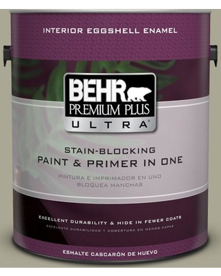 BEHR ULTRA 1 gal. #N350-4 Jungle Camouflage Eggshell Enamel Interior Paint and Primer in One