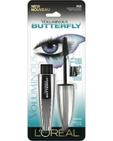 L'Oreal Paris Voluminous Butterfly Washable 868 Blackest Black .22 fl oz, Blackest Black 868