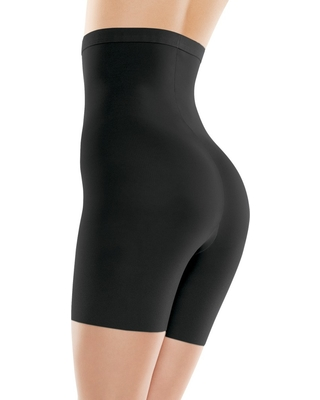 2cfc5d0840 Assets By Spanx Women s High-Waist Mid-Thigh Super Control Shaper - Black 1