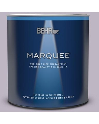 BEHR MARQUEE 1 qt. #PPU16-09 Aster Satin Enamel Interior Paint & Primer