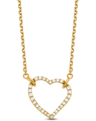 Jared The Galleria Of Jewelry Heart Necklace Diamond Accents 14K Yellow Gold