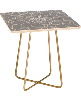 Deny Designs Frost Side Table, Size One Size - Grey