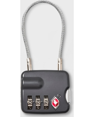 Cable Luggage Lock - Gray - Made By Design