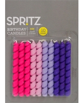 10 ct Pink & Purple Corkscrew Birthday Candles - Spritz, Multi-Colored