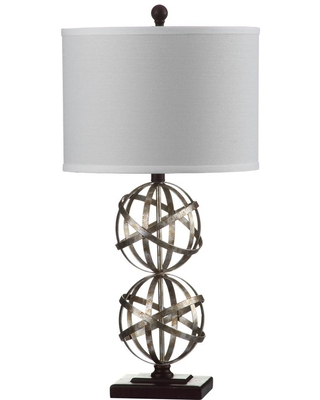 Safavieh Haley 28 in. Antique Silver Table Lamp