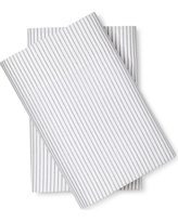 Microfiber Striped Pillowcases (King) Blue - Room Essentials, Nighttime Blue