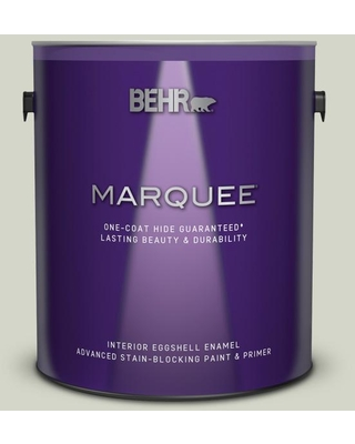 BEHR MARQUEE 1 gal. #QE-33 Natural Spring Eggshell Enamel Interior Paint and Primer in One