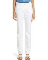 Women's Lafayette 148 New York Curvy Fit Jeans, Size 16 - White