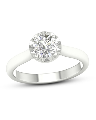 Diamond Solitaire Engagement Ring 1 ct tw Round-cut 10K White Gold