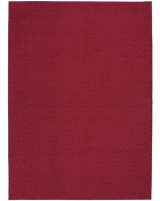Garland Rug Town Square Chili Red 8 ft. x 10 ft. Area Rug