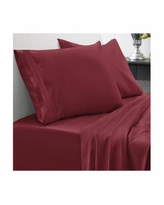 Sweet Home Collection Cal King 4-Pc Sheet Set - Burgundy