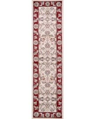 Domani Avon Beige/Ivory Traditional Runner Rug (Ivory/Red - 2' x 7'7)