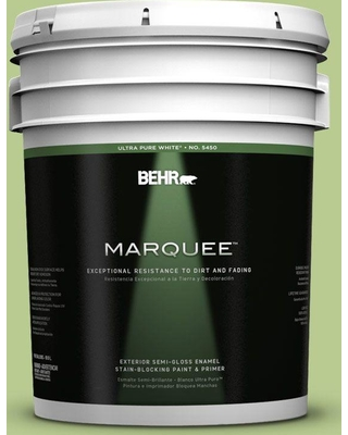 BEHR MARQUEE 5 gal. #420D-4 Marsh Fern Semi-Gloss Enamel Exterior Paint and Primer in One