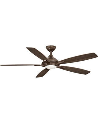 Discover Deals On Home Decorators Collection Petersford 56 In Integrated Led Indoor Oil Rubbed Bronze Ceiling Fan With Light Kit And Remote Control