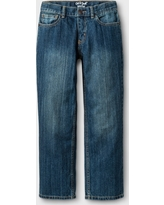 Boys' Relaxed Straight Fit Jeans - Cat & Jack Blue 12 Slim