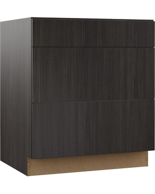 Hampton Bay Designer Series Edgeley Assembled 30x34.5x23.75 in. Pots and Pans Drawer Base Kitchen Cabinet in Thunder