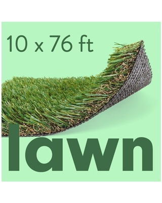 ALLGREEN Lawn 10 x 76 FT Artificial Grass for Pet Lawn and Landscaping Indoor/Outdoor Area Rug