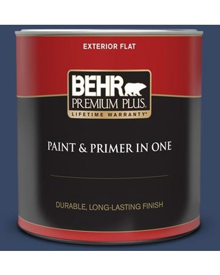 New Deal For Behr Premium Plus 1 Qt Mq5 14 Bon Nuit Flat Exterior Paint And Primer In One