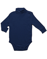 Leveret Infant Bodysuits Navy - Navy Turtleneck Bodysuit - Infant & Toddler