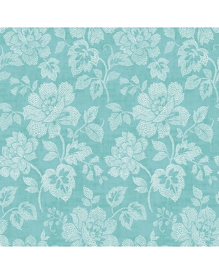 MANHATTAN COMFORT INC Dublin, Turquoise Tivoli Floral Paper Strippable Wallpaper Roll (Covers 56.4 sq. ft.)