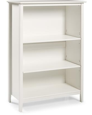 """Simplicity Collection AJSP05WH 48""""H Wood 3-Shelf Bookcase"""