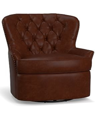 Magnificent Amazing Deals On Cardiff Leather Swivel Armchair Polyester Caraccident5 Cool Chair Designs And Ideas Caraccident5Info