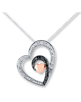 936b3fdf150 Shopping Special: Heart Necklace 1/10 ct tw Diamonds Sterling Silver ...