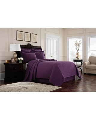 Royal Heritage Home Williamsburg Richmond Purple Solid Twin Bed Skirt