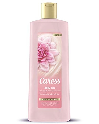 Caress Hydrating Body Wash For Noticeably Silky Soft Skin Daily Silk Extract & Floral Oil Essence 18 oz, Pack of 6