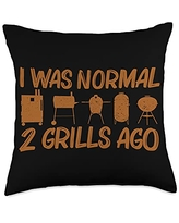 Best Grill Barbecue Cooking Griller Chef Clothes Funny Gift for Men Women Grilling BBQ Smoked Meat Fan Throw Pillow, 18x18, Multicolor