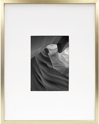 """5""""x7"""" Metal Single Picture Matted Frame Brass - Project 62 , Size: 5X7"""