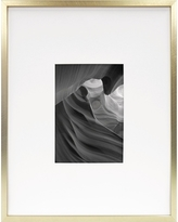 Metal Frame - Brass - 11x14 Matted for 5x7 Photo - Room Essentials