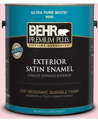 BEHR Premium Plus 1 gal. #120A-3 Lovelight Satin Enamel Exterior Paint and Primer in One