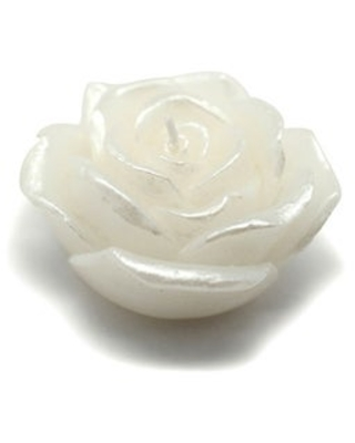 Rose Floating Candles (Case of 144) (White)