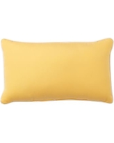"Sunbrella(R) Contrast Piped Solid Indoor/Outdoor Lumbar Pillow, 16 x 24"", Buttercup"