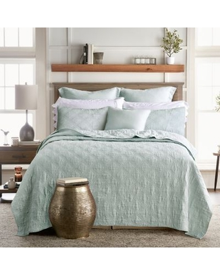 Levtex Home Washed Linen Full/Queen Quilt in Spa