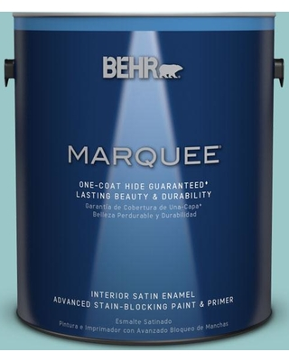 BEHR MARQUEE 1 gal. #MQ6-08 Aquifer One-Coat Hide Satin Enamel Interior Paint and Primer in One